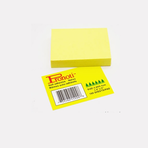 Yellow Sticky Notes Pronoti Brand