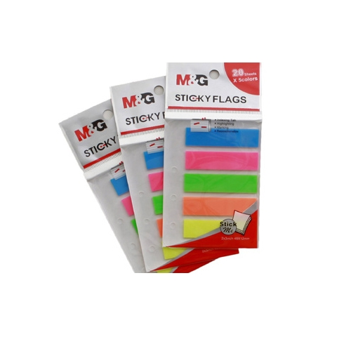Stick On Note Colorful Flags M&G Brand