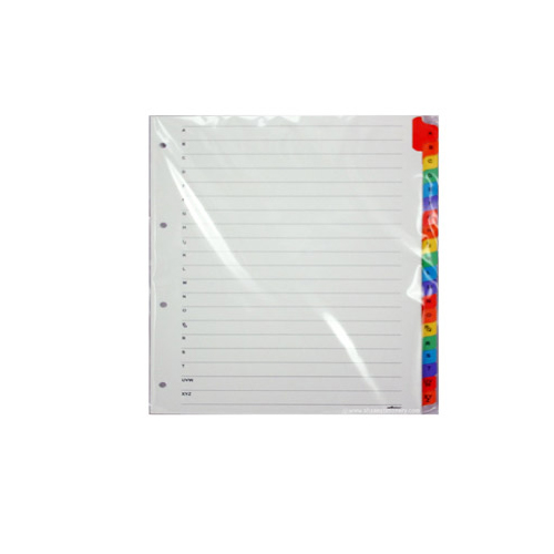Separator Divider A4 Size A to Z Tab