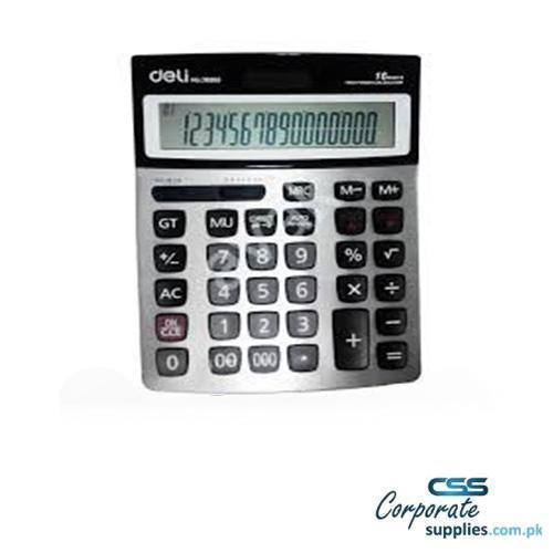 Deli 112-check Calculator 16-digit Metal (E39265)
