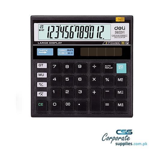 Deli 120-Check Calculator 12-DIGIT (E39231)