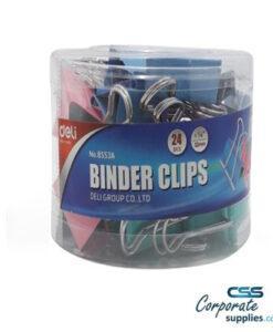Deli Binder Clip Multi Color (8553A)