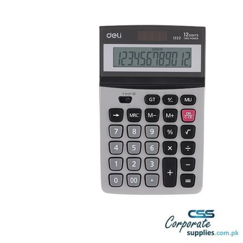Deli Calculator 12-Digit Metal (E1222)