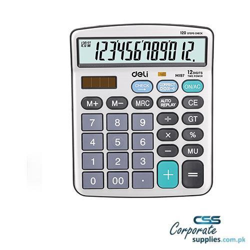 Deli Calculator 12-Digit Metal (EM19710)